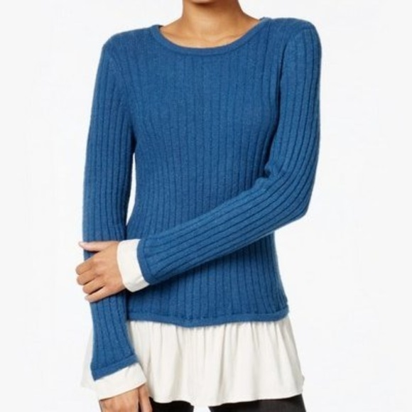 4597880cf4 Kensie Knit Layered Pullover Sweater